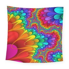 Colorful Trippy Square Tapestry (large)
