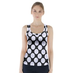 CIR2 BK-WH MARBLE Racer Back Sports Top