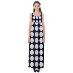 CIR1 BK-WH MARBLE Empire Waist Maxi Dress