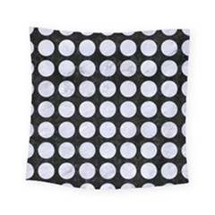 Circles1 Black Marble & White Marble Square Tapestry (small)