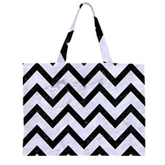 CHV9 BK-WH MARBLE (R) Large Tote Bag