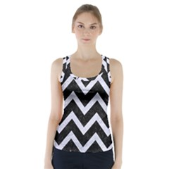 CHV9 BK-WH MARBLE Racer Back Sports Top