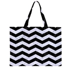 CHV3 BK-WH MARBLE Large Tote Bag