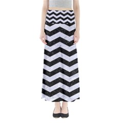 CHV3 BK-WH MARBLE Maxi Skirts