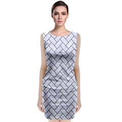 BRK2 BK-WH MARBLE (R) Classic Sleeveless Midi Dress