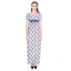 BRK2 BK-WH MARBLE (R) Short Sleeve Maxi Dress