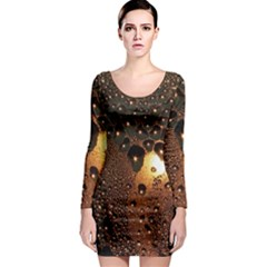 Condensation Abstract Long Sleeve Bodycon Dress