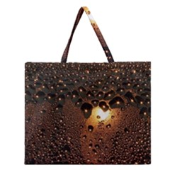 Condensation Abstract Zipper Large Tote Bag