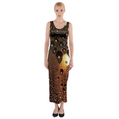 Condensation Abstract Fitted Maxi Dress