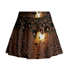 Condensation Abstract Mini Flare Skirt