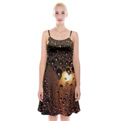 Condensation Abstract Spaghetti Strap Velvet Dress