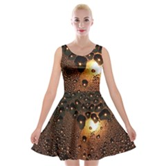 Condensation Abstract Velvet Skater Dress