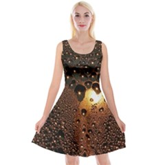 Condensation Abstract Reversible Velvet Sleeveless Dress