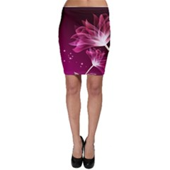 Drawing Flowers Lotus Bodycon Skirt