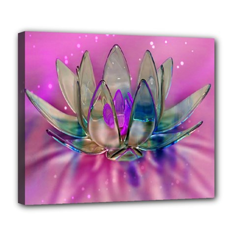 Crystal Flower Deluxe Canvas 24  X 20