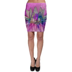 Crystal Flower Bodycon Skirt