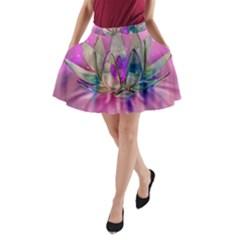 Crystal Flower A Line Pocket Skirt