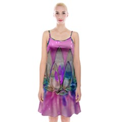 Crystal Flower Spaghetti Strap Velvet Dress