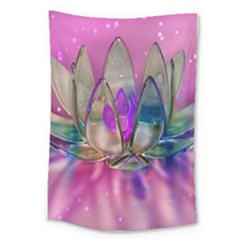 Crystal Flower Large Tapestry
