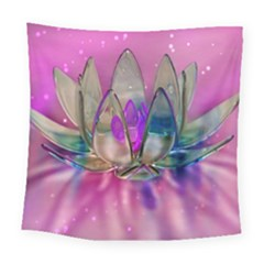 Crystal Flower Square Tapestry (Large)