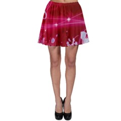 Crystal Flowers Skater Skirt