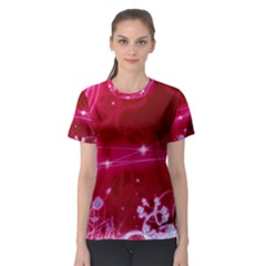 Crystal Flowers Women s Sport Mesh Tee