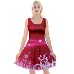 Crystal Flowers Reversible Velvet Sleeveless Dress