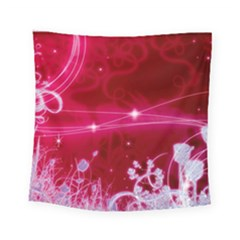 Crystal Flowers Square Tapestry (small)
