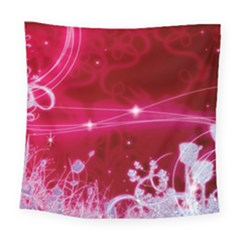 Crystal Flowers Square Tapestry (Large)