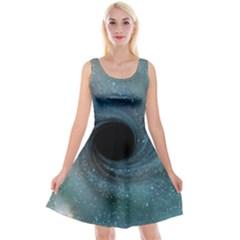 Cosmic Black Hole Reversible Velvet Sleeveless Dress