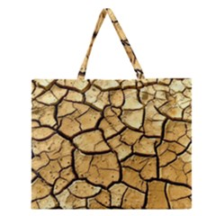 Dry Ground Zipper Large Tote Bag
