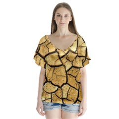Dry Ground Flutter Sleeve Top
