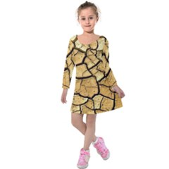 Dry Ground Kids  Long Sleeve Velvet Dress