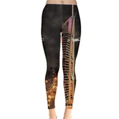 Dubai Burj Al Arab Hotels New Years Eve Celebration Fireworks Leggings
