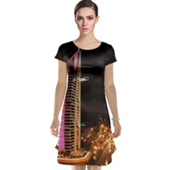 Dubai Burj Al Arab Hotels New Years Eve Celebration Fireworks Cap Sleeve Nightdress