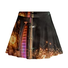 Dubai Burj Al Arab Hotels New Years Eve Celebration Fireworks Mini Flare Skirt