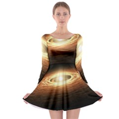 Erupting Star Long Sleeve Skater Dress