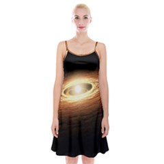 Erupting Star Spaghetti Strap Velvet Dress