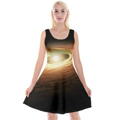 Erupting Star Reversible Velvet Sleeveless Dress