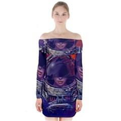 Eve Of Destruction Cgi 3d Sci Fi Space Long Sleeve Off Shoulder Dress