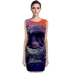 Eve Of Destruction Cgi 3d Sci Fi Space Sleeveless Velvet Midi Dress