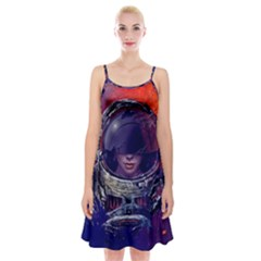 Eve Of Destruction Cgi 3d Sci Fi Space Spaghetti Strap Velvet Dress