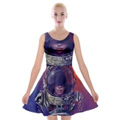 Eve Of Destruction Cgi 3d Sci Fi Space Velvet Skater Dress