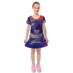 Eve Of Destruction Cgi 3d Sci Fi Space Kids  Short Sleeve Velvet Dress