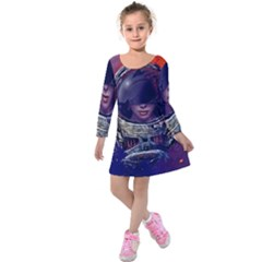 Eve Of Destruction Cgi 3d Sci Fi Space Kids  Long Sleeve Velvet Dress