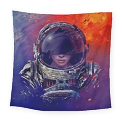 Eve Of Destruction Cgi 3d Sci Fi Space Square Tapestry (large)