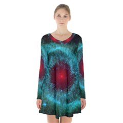 Fantasy 3d Tapety Kosmos Long Sleeve Velvet V Neck Dress