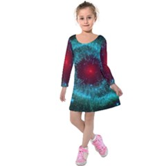 Fantasy 3d Tapety Kosmos Kids  Long Sleeve Velvet Dress