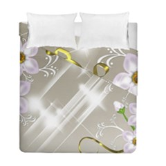 Floral Delight Duvet Cover Double Side (full/ Double Size)
