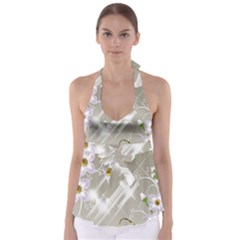 Floral Delight Babydoll Tankini Top
